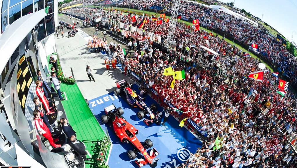 The Race After Party by Neuschwansteiner Budpapest Podium Ferrari